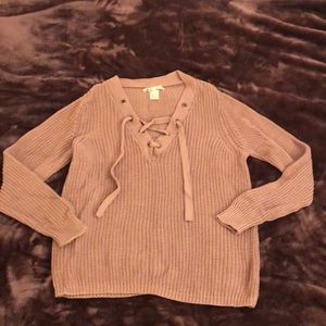 Lavender lilac knit sweater